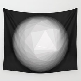 A Geometric Moon Wall Tapestry