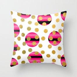 NL 9 6 Abstract Polka Dots Throw Pillow