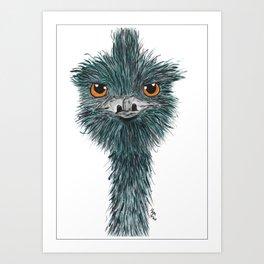 Derek the Emu Art Print