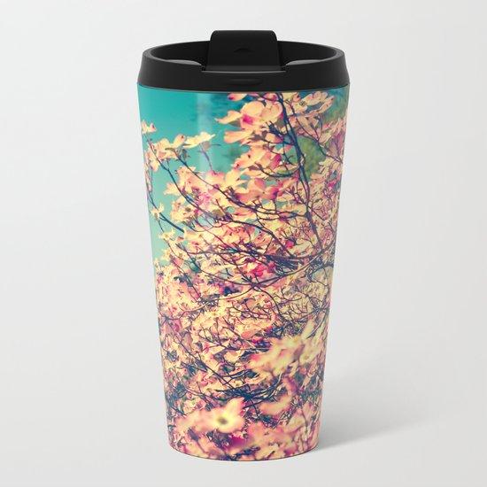 Her Favorite Color was Pink Flowers Metal Travel Mug