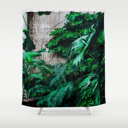 The Room's Green (Color) Shower Curtain