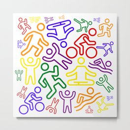 Rainbow people Metal Print