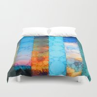 blues Duvet Covers featuring Blues by Olivia Joy StClaire