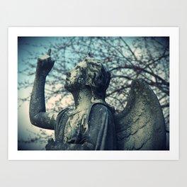 Stone Angel Blues Art Print