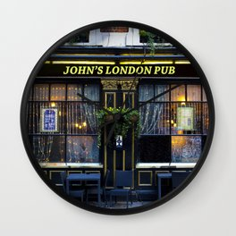 John's London Pub Wall Clock