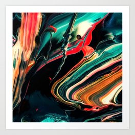 ABSTRACT COLORFUL PAINTING II-A Art Print