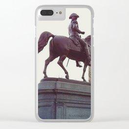 Washington in Boston Common Clear iPhone Case