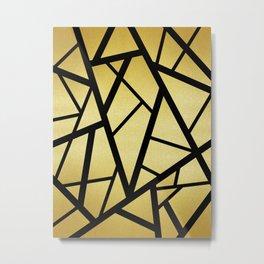 Black and gold pattern Metal Print