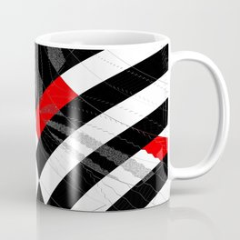 black and white meets red Version 8 Coffee Mug