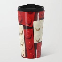 Red and White Legos Travel Mug
