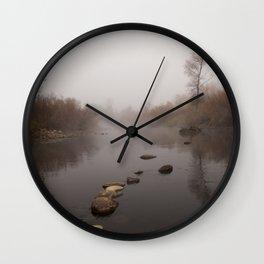 Clear Creek Fog Wall Clock