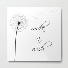 Make a wish Metal Print