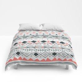 Aztec tribal pattern in stripes, vector illustration Comforters