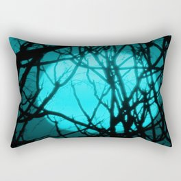 Teal Sunset Rectangular Pillow