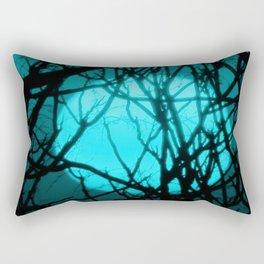 Teal Sunset Rectangular Pillow