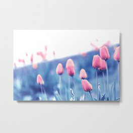 Red Windy Tulip Day Metal Print