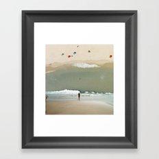 The Sky is Flat IV Framed Art Print
