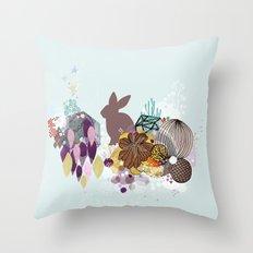 Easter bunny wonderland Throw Pillow