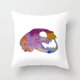 Cat Skull Art Throw Pillow