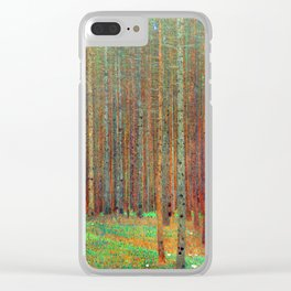 """Fir Forest"" by Gustaf Klimt Clear iPhone Case"
