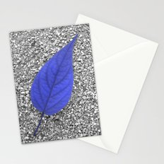 blue leaf IV Stationery Cards