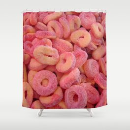 Strawberry and Peach Gummys Shower Curtain