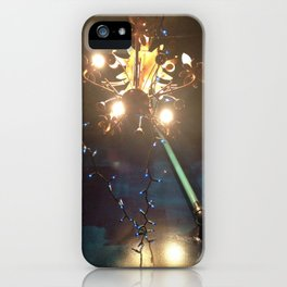 Glowing Flower Chandelier   iPhone Case