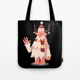 Yeti Winter Christmas Sasquatch Tote Bag