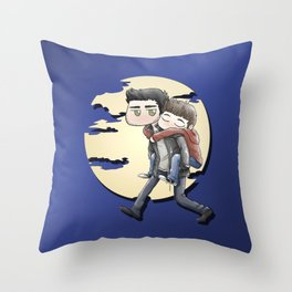 Wolfyback Throw Pillow