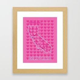 Heart California Framed Art Print