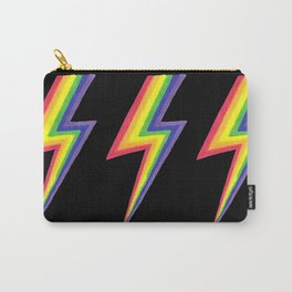 Rainbow Bolts on Black Carry-All Pouch