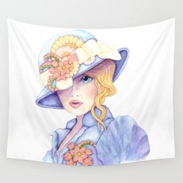 Violet Eyes Wall Tapestry