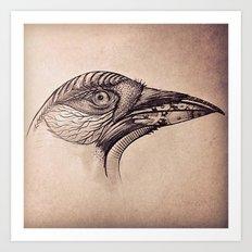 Steampunk BlackBird Art Print