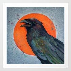 Raven Sun Art Print