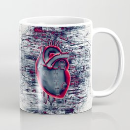 Gamer Heart BLUE CRIMSON / 3D render of mechanical heart Coffee Mug
