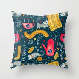 Pattern #71 - Hygge - Cosy winter Throw Pillow