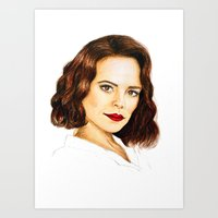 agent carter Art Prints featuring Agent Carter by Olivia Nicholls-Bates