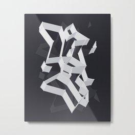 3D X 0.4 Metal Print