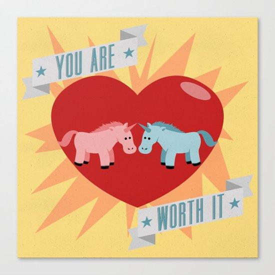Unicorns are Worth It Canvas Print