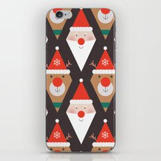 Day 03/25 Advent - Santa & Rudolph iPhone & iPod Skin