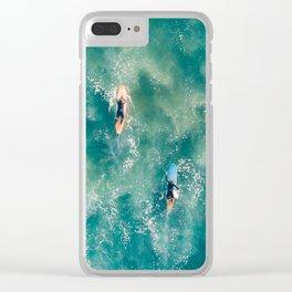 Galatic Surfers Clear iPhone Case
