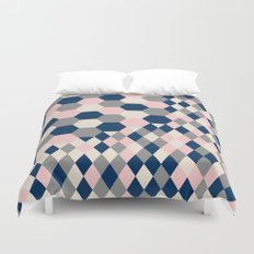 Honeycomb Blush and Grey Duvet Cover