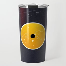 Vinyl Record Star Sign Art | Leo Travel Mug