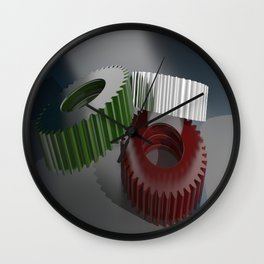 Italian gears, precision mechanics Wall Clock