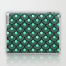 Mermaid Scales in Metallic Sea Foam Green Laptop & iPad Skin
