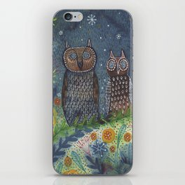 Twit Twoo, owl painting iPhone Skin