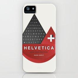Helvetica iPhone Case