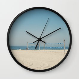 Hermosa Beach Volleyball Wall Clock