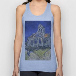 Vincent Van Gogh - The Church in Auvers-sur-Oise, View from the Chevet 1890 Unisex Tank Top