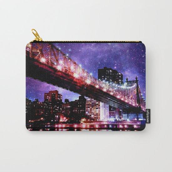 Majestic New York City: Manhattan Bridge Carry-All Pouch